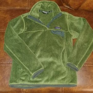 Small Patagonia Re-Tool Snap-T Fleece Green